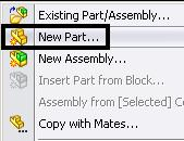 Save the assembly as mouse.sldasm. Creating an empty part within the Assy You are now ready to model the buttons.