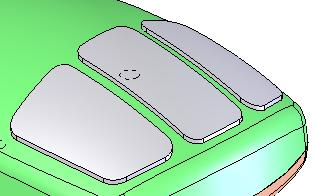 To specify the reference surface, activate the box and select the top surface of the mouse. In the next specify an offset distance of 1.00mm.