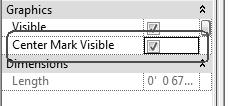 Revit Structure Basics: Framing and Documentation 33. Set the Name to Base Radius. Enable Type. Press OK. 34. Select each arc in the sketch. 35. In the Properties pane: Enable Center Mark Visible.