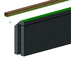 Insert Mates Select the mate toolbar. Mate the top of the wall with the underside of the wallplate shown.