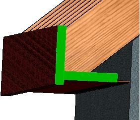 soffit set the distance of 15mm below as shown. Accept.