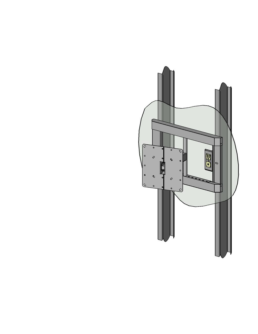 "Page 1 of 6 LC200DS1 Double Stud Articulating Wall Mount for Flat Panel Screens up to 32"" with up to 200mm x 200mm VESA Mounting Patterns A multi-position dual articulating arm for flat screens up to"