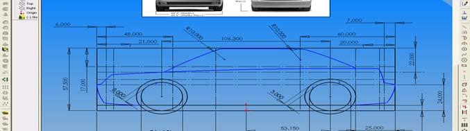 Using the Sketch tools: Click on Sketch Trim and trim the unwanted lines, make sure that you ll have a continuous line all around the side profile