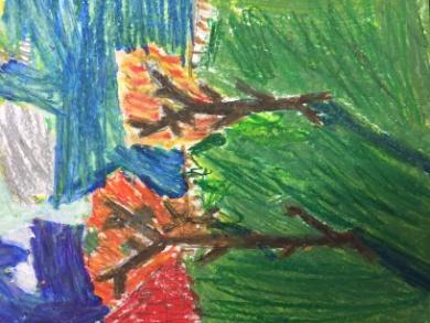 3B students also write a report in class about an Impressionist painter.
