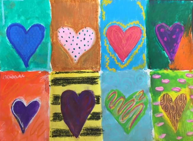 Sixth Grade Jim Dine Hearts Jim Dine, an American pop artist, created over 3,000 paintings, prints, drawings and sculpture. He painted series of subjects including hearts in many ways.