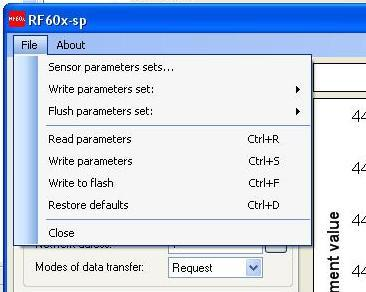 "21 14.3.4. Saving and writing a group of parameters After setting one or more required parameters by clicking the right key of the mouse on the left panel ""Parameters save"" menu is activated."