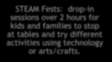 STEAM Fests & Tech Toys (Youth) Purchased