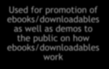 for promotion of ebooks/downloadables as