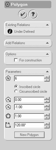 Now, one by one, click on the two edges of the corners to create a fillet there. Once the five fillets are added, click on the green ( ) button on the Sketch Fillet menu.