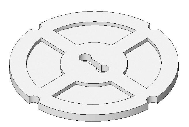 To finish the cover plate, you need to add four circles around the perimeter to make the guide holes.