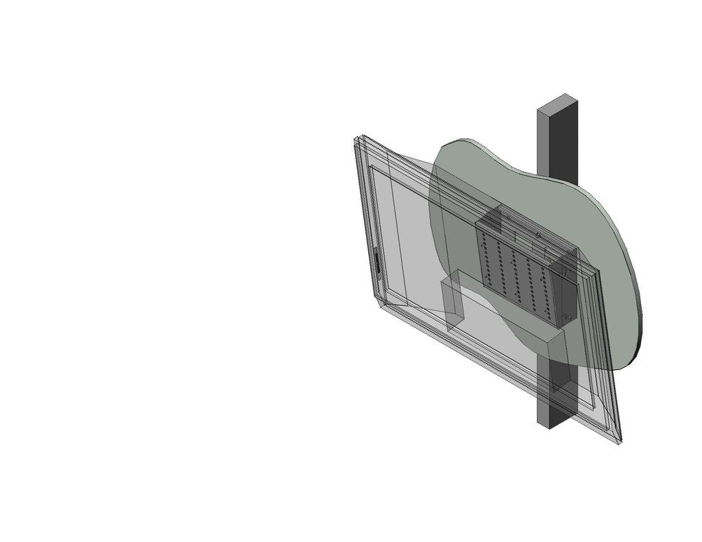 "Page 1 of 6 The LC200WT Security Wall Mount with Tilt is designed to secure up to a 32"" flat panel monitor to the wall while still allowing the monitor to tilt."