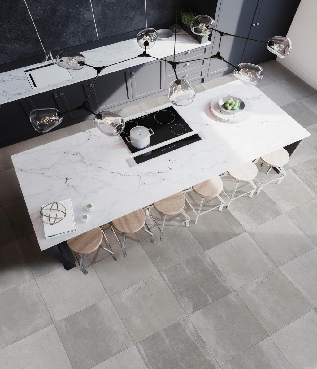 "RAINSTONE PORCELAIN TILE The Rainstone Collection is offered in a 12"" x 24"", 24"" x 24"""