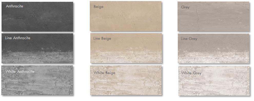 STONEWAY PORCELAIN TILE * * * SIZES 12 X 24 Field Tile *2 X 2 Mosaic *Only available in Anthracite, Beige and Grey.