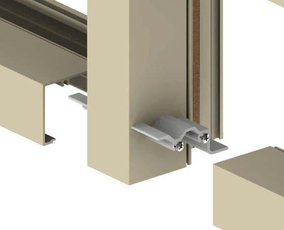 Sealant Sealing and securing frame clips to verticals Step #4 (shear block only): Attach horizontals to frame clips Apply