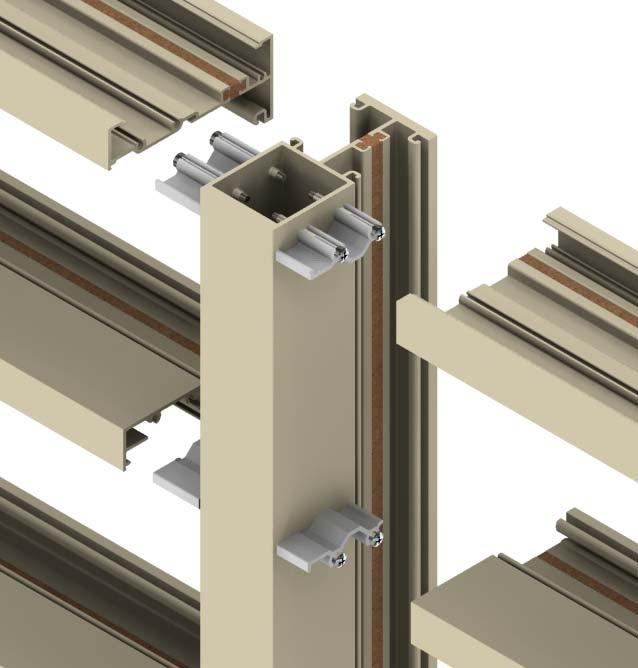 Sealant Sealant Attaching horizontals to frame clips Slide horizontals onto shear blocks (frame clips).