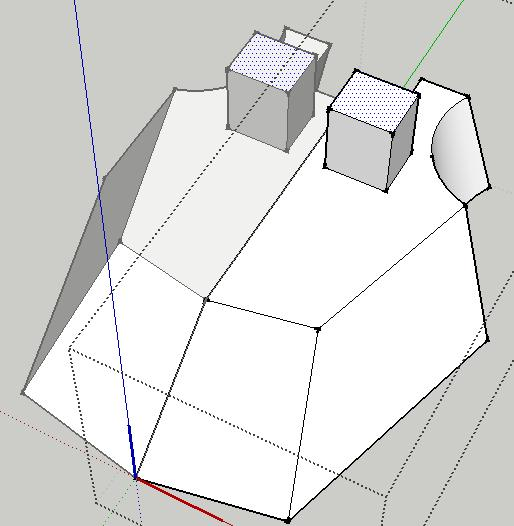 Tank exercise in Using Google SketchUp Use the Push/Pull tool to pull up