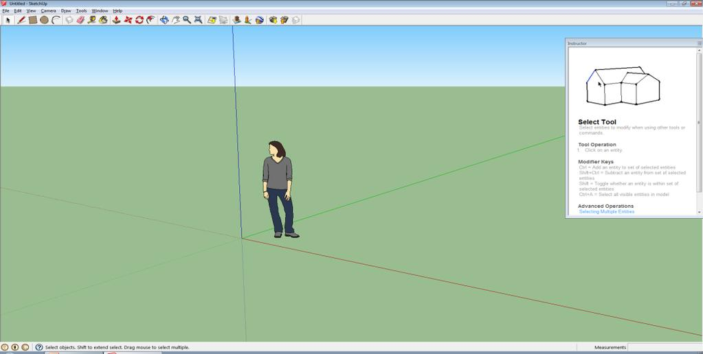The SketchUp program will open as