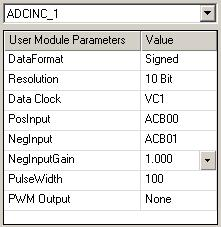 eding the Differentil lue It is necessry to hve n ADC with differentil inputs. The user modules re the ADCINC nd the DELSIG.