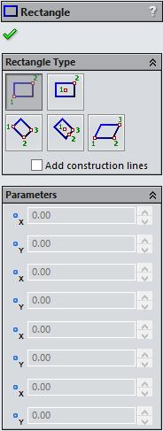 SOLIDWORKS 2015: A Power Guide > 2.25 Drawing Rectangle In SOLIDWORKS, you can draw rectangle by different methods.