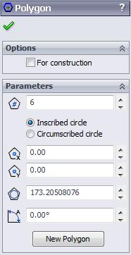 SOLIDWORKS 2015: A Power Guide > 2.37 2.79 2.80 Options By default, the For construction check box available in the Options rollout is cleared.