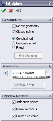 SOLIDWORKS 2015: A Power Guide > 2.51 Procedure to Draw Spline Using the Parametric Equation Type 1.