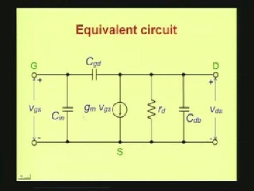 (Refer Slide Time: 09:45) The equivalent circuit looks like this.