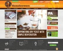 Advertising in this publication provides a long, one-year shelf life! HomebrewersAssociation.org Banner Advertising.