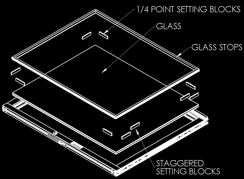 VII. Glazing Instructions Note: When glazing Fleetwood recommends the use of a hydraulic glass lifter. 1. If glazing after panel installation (Figure 11), see Section VIII Panel Installation. 2.