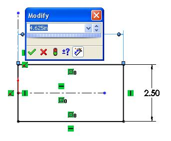 Mill-Lesson-9 Add dimensions to fully defined rectangle 7. Click on the smart dimension icon from the sketch tool bar.