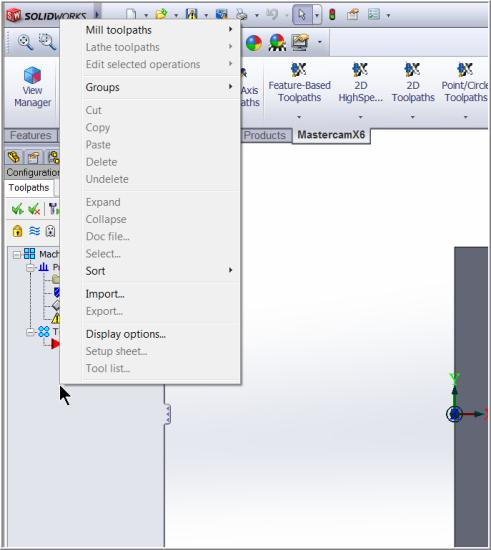 Mastercam for SolidWorks Training Guide TOOLPATH TASK 2: ROUGH THE POCKET USING SURFACE POCKET In this task you will use a 0.