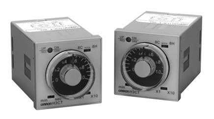 Solid-sae Timer H3CT DIN 48 x 48-mm Sandard Size Analog Timer Wide ime range (for 4 series of models); 0.1 s o 30 hrs.