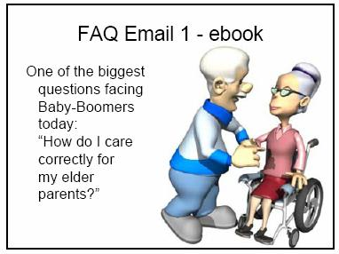 Let's take another example. This is for an ebook that I imagined because I would like this ebook as to my own personal situation right now. And that would be an ebook on caring for your elder parents.