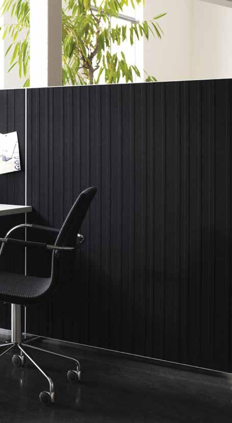 Alumi DESIGN NINA JOBS Alumi is a flexible, freestanding screen for the office as well as for public areas. The flexibility of the screen and its technical features add to a wide range of usage.