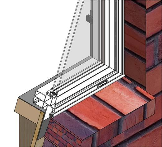 Step 12: Sealing the Exterior A. Warning: Maintain a minimum of ¼ between the window frame, trim, siding, or masonry.