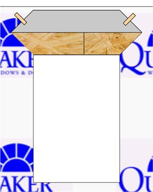 Verify the rough opening is flat, plumb, level, and square. (Fig. 1) Take diagonal measurements to check for square.