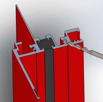 Apply sill flashing to exterior side first allowing for a minimum of 3 of flashing to be below the sill, and a minimum of 6 up each side. (Fig. 5) D. Flashing tape must cover the entire sill plate.