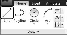 Autodesk AutoCAD 2018: Fundamentals AutoCAD allows you to draw geometry using four methods: Absolute Coordinates Relative Coordinates Polar Coordinates Direct Entry Absolute Coordinates use absolute