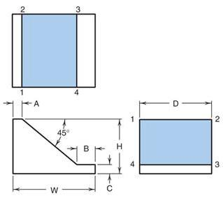 Example 1 Example 1 (Answer) The following figure shows the top, front and right-side views of a part in Third Angle Projection.