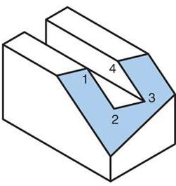 Example 2 (Answer) 3) Oblique Planes Draw the isometric axes. Create the front isometric plane. Oblique Planes (cont.) Oblique Planes (cont.) Create the top isometric plane.