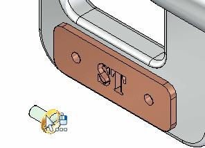 Introduction to creating assemblies Place the first fastener Display the Parts Library. Drag Screw2.par. from the Parts Library tab and drop it into the assembly at the approximate location shown.