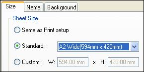 Introduction to detailed drawing production In the Sheet Setup dialog box, on the Size page, set the Sheet Size option to A2 Wide (594 mm x 420 mm).