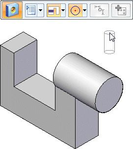 Lesson 1 Introduction to part modeling Start the Hole command Choose Home tab>solids group>hole.