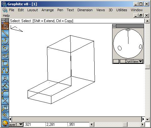 Ashlar-Vellum Rotate the model using the Trackball/TrackCube.