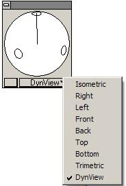 Choose any view, such as Right or Top, by selecting each view from the pull-down menu on the bottom panel of the Trackball.