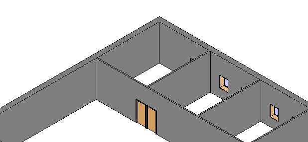 In Revit most any design decisions can be adjusted at any time. 6. In the Properties Palette change the Top Constraint to Up to level: Roof. Click Apply. 7.