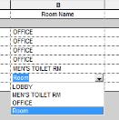 Click on the Room Name column for room number 5