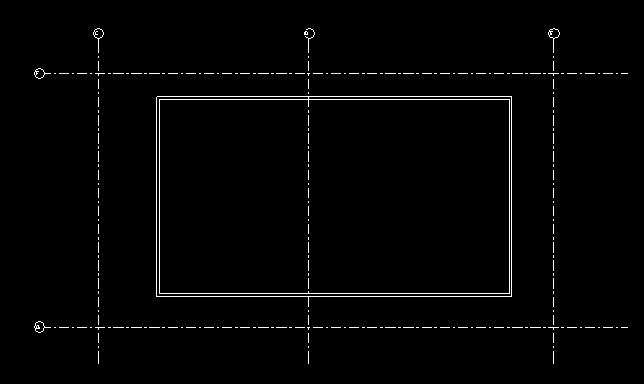 II. GRIDS: 1. In the next steps you will create grid lines to establish relationships between the walls and the grids so that moving a grid causes the wall to move with the grid. 2.