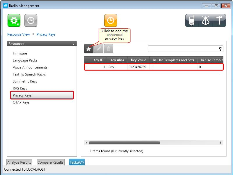 65 2. In the Privacy Keys tab of the Radio Management program add the enhanced
