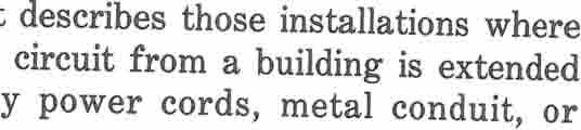 01 This part describes those installations where a