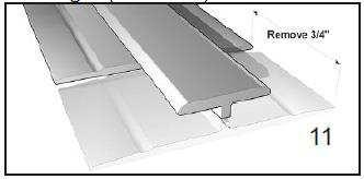 Ensure an 1/8 expansion space between the FRP Panel and Division Trim Molding center strip.